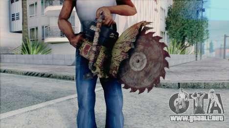 Motosierra de Silent Hill Home Coming para GTA San Andreas sucesivamente de pantalla