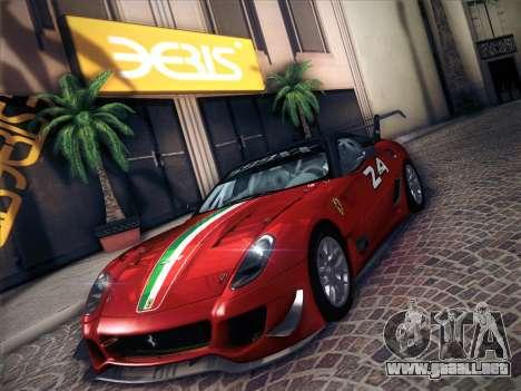 Ferrari 599XX 2012 para visión interna GTA San Andreas