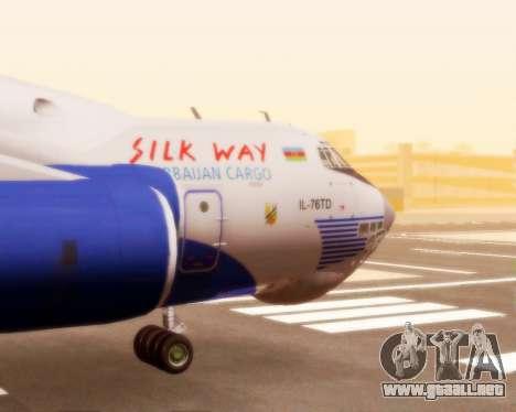 Il-76td Silk Way para GTA San Andreas vista hacia atrás