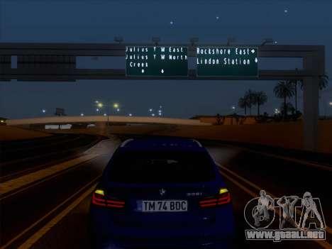 BMW 3 Touring F31 2013 para visión interna GTA San Andreas