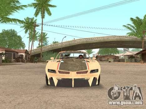 AMC Javelin AMX para GTA San Andreas vista hacia atrás