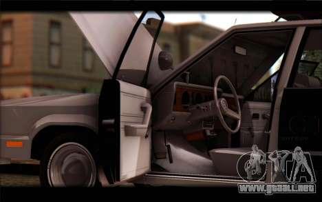 Ford Fairmont 1978 4dr Police para la visión correcta GTA San Andreas