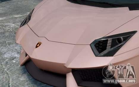 Lamborghini Aventador LP760-4 Oakley Design para GTA 4 vista desde abajo