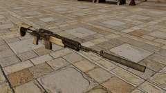 M14 rifle con silenciador
