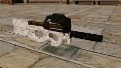P90 subfusil ametrallador Ártico Camo