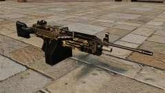 La ametralladora de la ligera M249 Camo