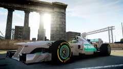 Mercedes F1 W04 (Airtug) para GTA 4