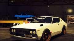 Nissan Skyline KPGC110 Fatlace para GTA San Andreas