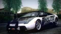 Lamborghini Murciélago policía 2005 para GTA San Andreas