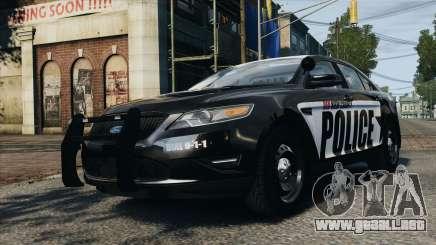 Ford Taurus Police Interceptor 2010 para GTA 4