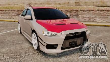 Mitsubishi Lancer Evolution X GSR 2008 para GTA 4