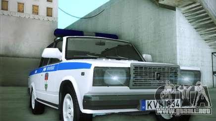 Rendőrség LADA 2107 para GTA San Andreas