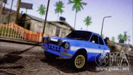 Ford Escort Mk1 RS1600 para GTA San Andreas