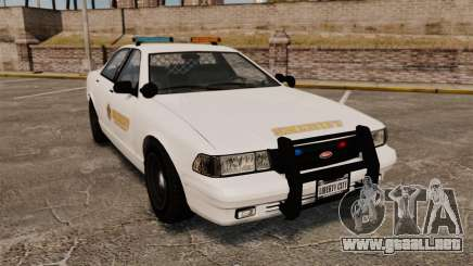 GTA V Police Vapid Cruiser Sheriff para GTA 4