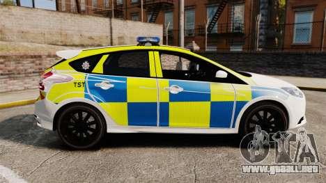 Ford Focus 2013 Uk Police [ELS] para GTA 4 left