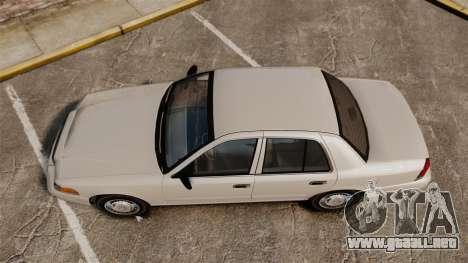 Ford Crown Victoria 1998 v1.1 para GTA 4 visión correcta