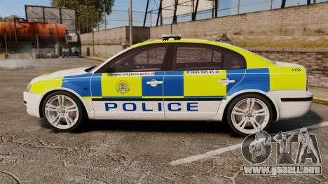 Skoda Superb 2006 Police [ELS] Whelen Justice para GTA 4 left