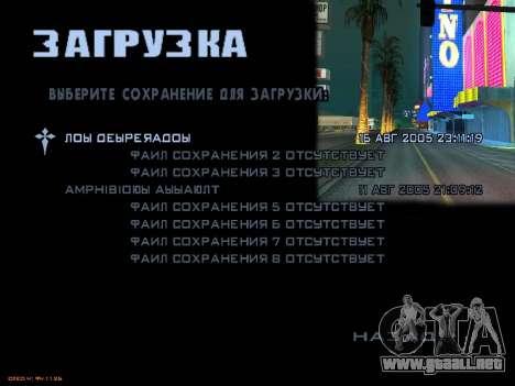 Nuevas pantallas de carga para GTA San Andreas undécima de pantalla