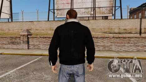 Chaqueta de cuero negro para GTA 4 segundos de pantalla