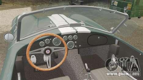 Shelby Cobra 427 SC 1965 para GTA 4 vista hacia atrás