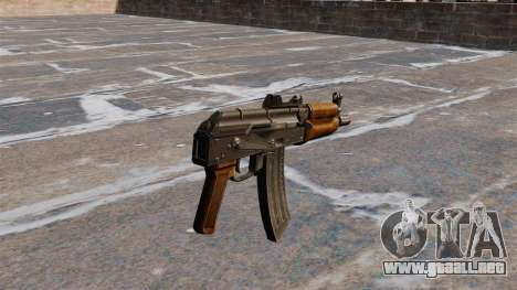 AKS74U automático para GTA 4 segundos de pantalla
