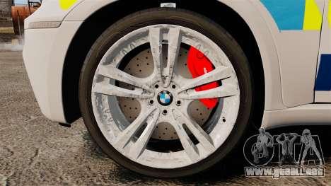 BMW X5 City Of London Police [ELS] para GTA 4 vista hacia atrás
