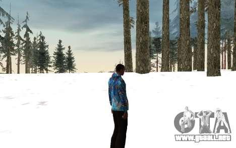 Chaqueta de Sochi 2014 para GTA San Andreas sucesivamente de pantalla