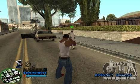 C-HUD CutHot para GTA San Andreas tercera pantalla