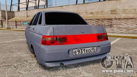 VAZ-2110 para GTA 4 Vista posterior izquierda