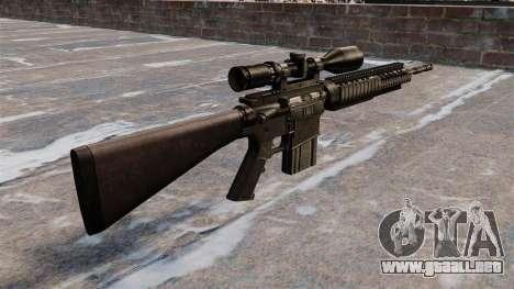 Rifle de francotirador Armalite AR-10 para GTA 4 segundos de pantalla