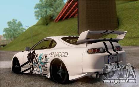 Toyota Supra Mk IV para GTA San Andreas left