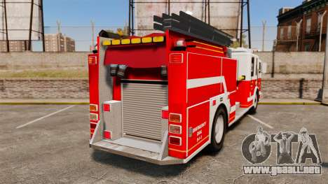 Firetruck Alderney [ELS] para GTA 4 Vista posterior izquierda