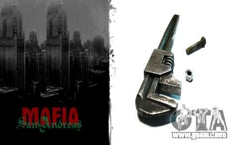 Pantalla de arranque de estilo mafioso para GTA San Andreas sucesivamente de pantalla