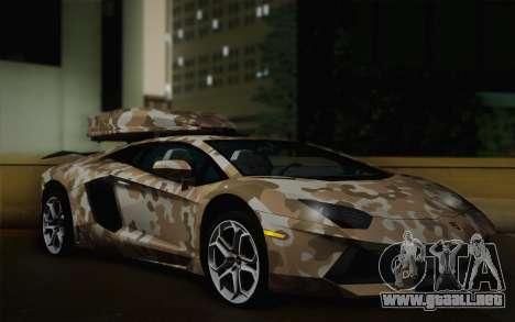 Lamborghini Aventador LP 700-4 Camouflage para GTA San Andreas