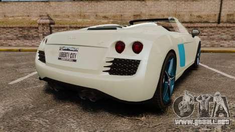 GTA V Obey 9F Spider para GTA 4 Vista posterior izquierda