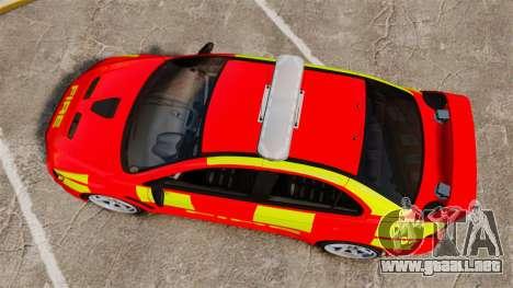 Mitsubishi Lancer Evo X Fire Department [ELS] para GTA 4 visión correcta