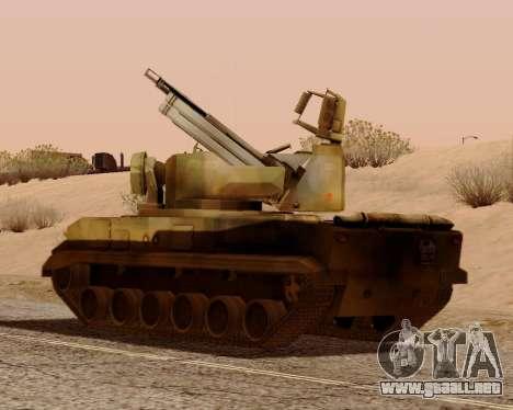 Tunguska 2S6 para visión interna GTA San Andreas