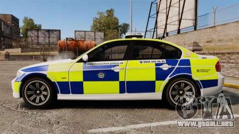 BMW 330i Hampshire Police [ELS] para GTA 4 left