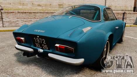 Renault Alpine A110 1600 S para GTA 4 Vista posterior izquierda