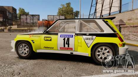 Renault 5 Turbo Maxi para GTA 4 left