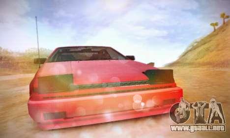 Toyota Corolla GT-S 1985 para visión interna GTA San Andreas