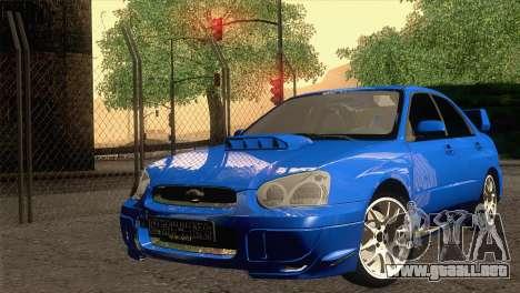 Subaru WRX STI 2004 para GTA San Andreas