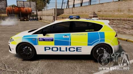 Seat Cupra Metropolitan Police [ELS] para GTA 4 left
