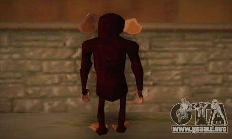 Chimpancé para GTA San Andreas segunda pantalla