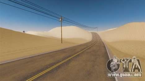 Ubicación de la carretera del desierto para GTA 4 tercera pantalla