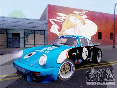 Porsche 911 RSR 3.3 skinpack 5 para la visión correcta GTA San Andreas