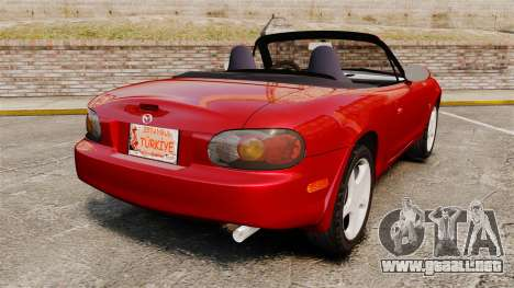 Mazda (Miata) MX-5 para GTA 4 Vista posterior izquierda