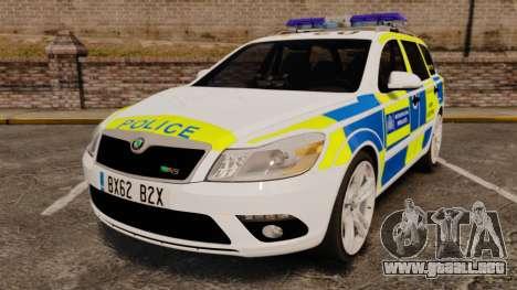 Skoda Octavia RS Metropolitan Police [ELS] para GTA 4