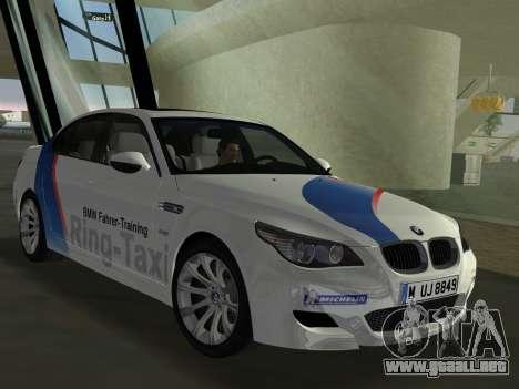 BMW M5 (E60) 2009 Nurburgring Ring Taxi para GTA Vice City vista lateral izquierdo