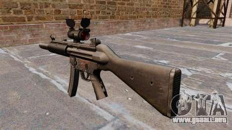 Ametralladora HK MP5SD2 para GTA 4 segundos de pantalla